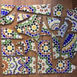 Broken Patterned tile mosaic SET 1 $27.50ea