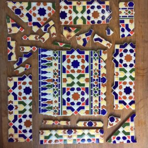Broken Patterned tile mosaic SET 2 $27.50