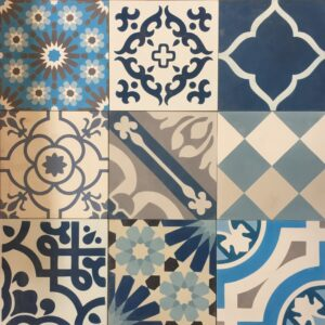 Cement tile mix Blues OUT OF STOCK