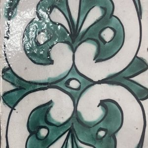 Green Hearts Moroccan Tile