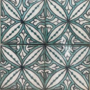Safi green Moroccan Tile