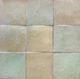 The Tile Studio Zellige Range Aqua Sample Board