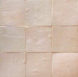 The Tile Studio Zellige Range Moroccan Pink Sample Board