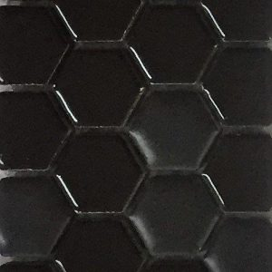 The Tile Studio Mosaics Range Hexagon Black
