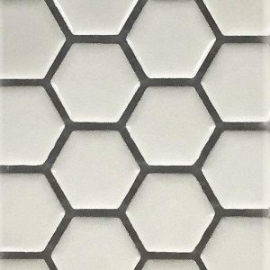 The Tile Studio Mosaics Range Hexagon White