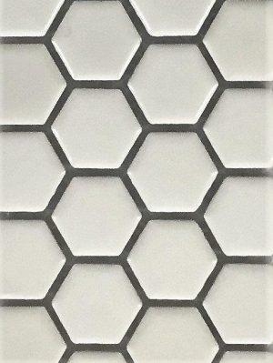The Tile Studio Mosaics Range Hexagon White