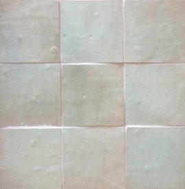 The Tile Studio Zellige Range Sea Green Sample Board