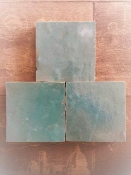 The Tile Studio Zellige Range Water Blue Sample Board